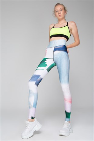 Colorful high waist push-up leggings